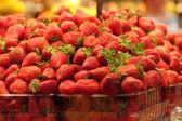 Strawberries on market — Stock Photo