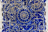 Blue Tiled Mosaics at park Guell — Stock Photo