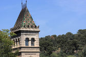 Tower at the park Guell — Stock Photo