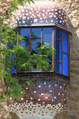 Window of tower at park Guell — Stock Photo