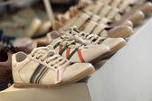 White jogging shoes — Stock Photo