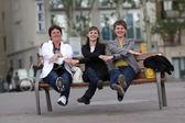 Trzy kobiety śmieszne — Zdjęcie stockowe