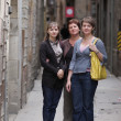 Three women poses at the street — Stock Photo #3514054