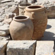 Giant clay jars from the Palace of Knossos — Stock Photo #3732051