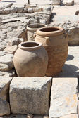 Giant clay jars from the Palace of Knossos — Stock Photo
