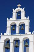 Belfry of greek church — Stock Photo