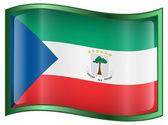 Icono de bandera de guinea Ecuatorial. — Vector de stock