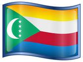 Comoros Flag icon. — Stock Vector