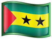 Sao Tome Flag icon. — Stock Vector