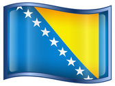 Bosnia and Herzegovina Flag icon. — Stock Vector