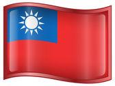 Taiwan Flag icon. — Stock Vector