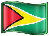 Guyana Flag icon. — Stock Vector
