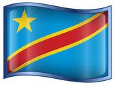 Congo Flag Icon. — Stock Vector