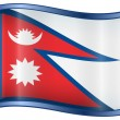 Nepal Flag icon. — Stock Vector