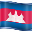 Cambodia flag icon. — Stock Vector