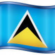 Stock Vector: Saint Luciflag icon.