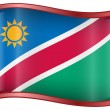 Namibia flag icon. — Stockvectorbeeld