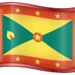 Grenada flag icon. — Stock Vector
