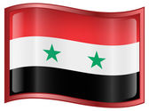 Syrian Flag icon. — Stock Vector