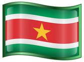 Suriname flag icon. — Stock Vector