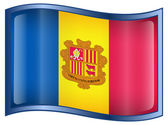 Andorra flag icon. — Stock Vector