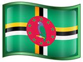 Dominica flag icon. — Stock Vector