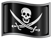 Pirat flaggikonen. — Stockvektor