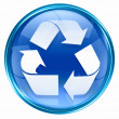 Recycling symbol icon blue. — Stock Photo