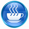 Coffee cup icon blue. - Stock Photo