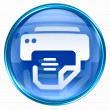 Printer icon blue. - Stock Photo