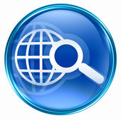 Search and magnifier icon blue. — Stock Photo