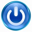 Stock Photo: Power button blue.