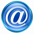 Email symbol blue. — Stock Photo