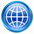 Royalty-Free Stock Photo: World icon blue.