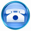 Phone icon blue. - 图库照片