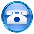 Phone icon blue. - Stock fotografie