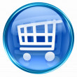 Shopping cart icon blue. — Stock Photo
