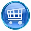 Shopping cart icon blue. - Stock Photo