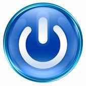 Modré tlačítko napájení. — Stock fotografie