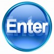 Enter icon blue. — Stockfoto