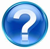 Otázka ikonu symbolu modré. — Stock fotografie