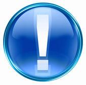Icône de symbole d'exclamation bleu. — Photo