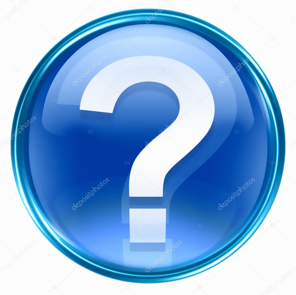 Question symbol icon blue, isolated on white background — Stock Photo #2791370