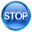 Stop icon blue. — Stock Photo