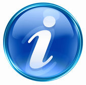 Information icon blue. — Stock Photo