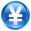 Yen icon blue. — Stock Photo
