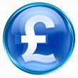 Stock Photo: Pound icon blue.