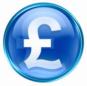 Pound icon blue. — Stockfoto