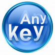 Any Key icon blue. — Stock Photo