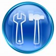 Tools icon blue. - Stock Photo